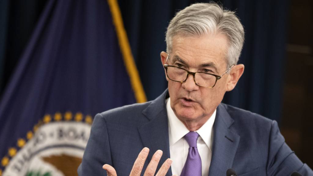 Wirtschaft und Politik in den USA hoffen auf vorauseilende Hilfe der Notenbank. Investoren erwarten das Fed-Chef Jerome Powell und seine Kollegen am Mittwochabend den Leitzins senken werden. (Archivbild)