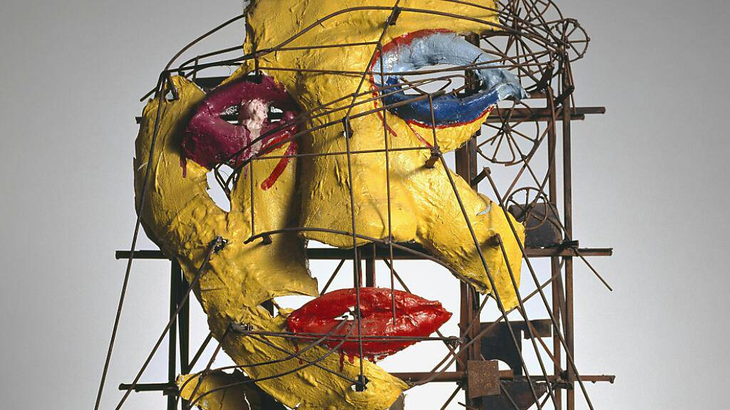 Im Aargauer Kunsthaus zu sehen: Sie Skulptur «Le Cyclop – La Tête» von Jean Tinguely und Niki de Saint Phalle.
