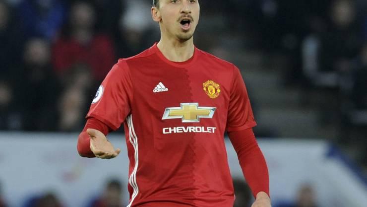 Zlatan Ibrahimovic könnte seine Karriere bei Manchester United fortsetzen