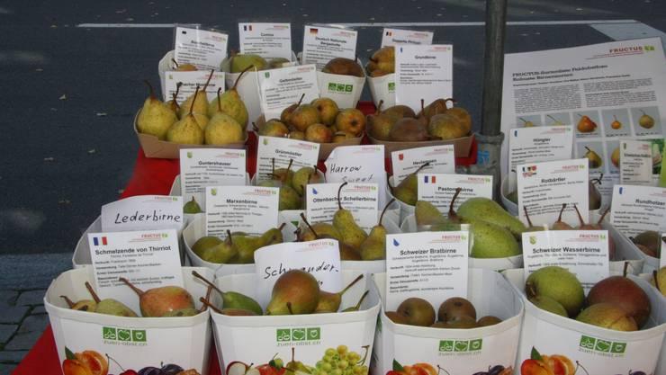 Auch die Auswahl an Birnen ist reich.