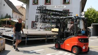 Donschtigs-Jass in Frenkendorf: Der Aufbau