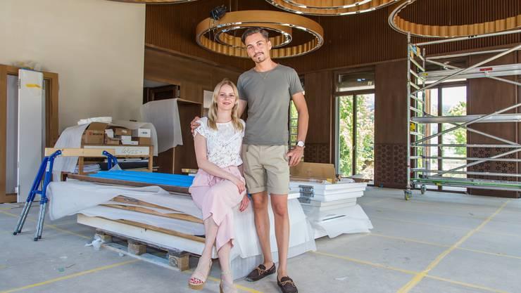 """Alexandra von Allmen und Manuel Steigmeier übernehmen das Restaurant """"Fahr"""" in Künten"""
