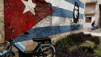 Patriotische Wandmalerei in Havanna, der Hauptstadt von Kuba