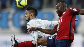 Kam dank spätem Ausgleich um eine Heimniederlage herum: Marseille mit Rémy Cabella (links)