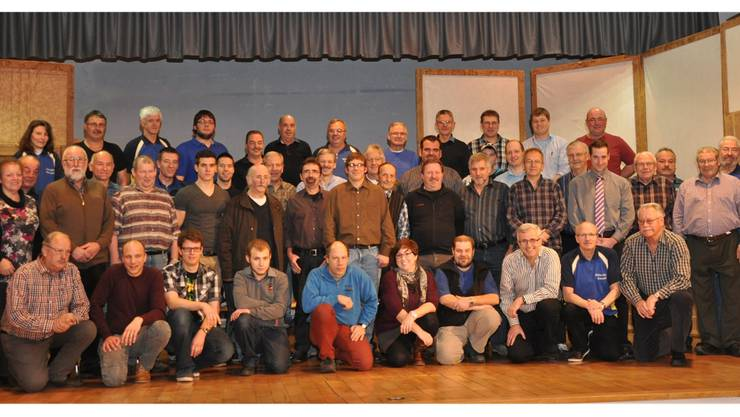 Sie alle nahmen an der Gründungsversammlung der Schützengesellschaft Matzendorf teil.
