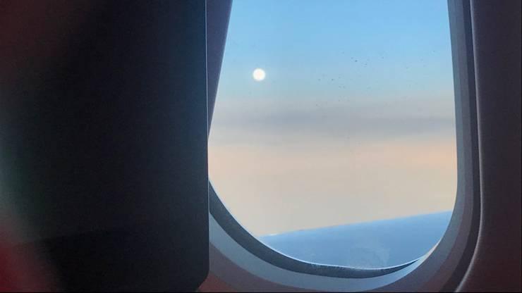 Guten Morgen kurz vor der Landung
