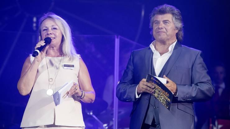 Schlagernacht-Organisatorin Jolanda Plüss mit Andy Borg, welcher den Anlass beide Male moderierte.