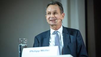 FDP-Ständerat Philipp Müller während einer Veranstaltung 2018 in Suhr.