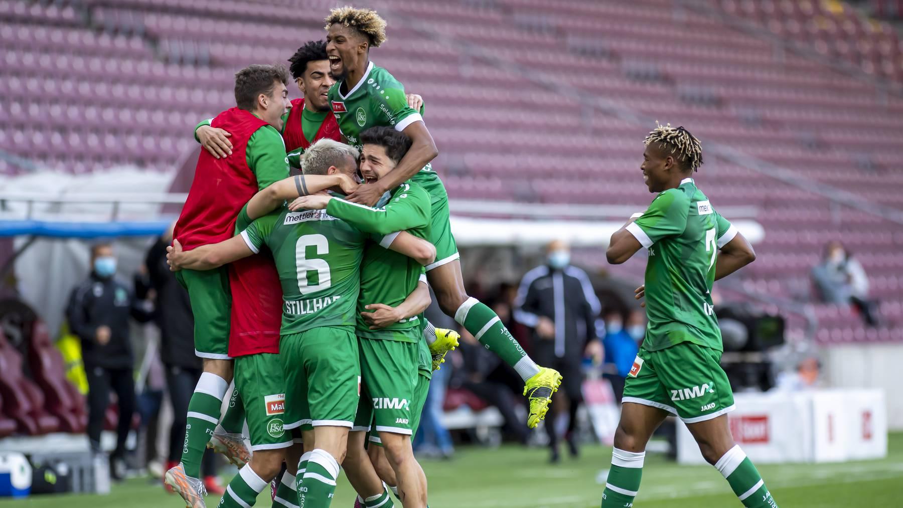 FC St.Gallen Jubel Cup-Halbfinal Tor