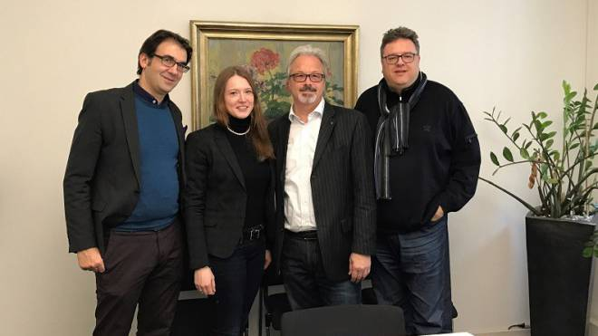 1_MICE Service (Schweiz) AG_v.l._Mazyar Tännler (Verwaltungsrat), Janin Heukamp, Uwe Tännler und Oliver Stoldt.