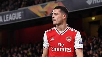 Granit Xhaka zeigte beim 2:0 von Arsenal gegen Manchester United am Neujahrstag eine starke Leistung.