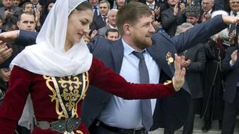 Präsident Ramsan Kadyrow in Festlaune (Archiv)