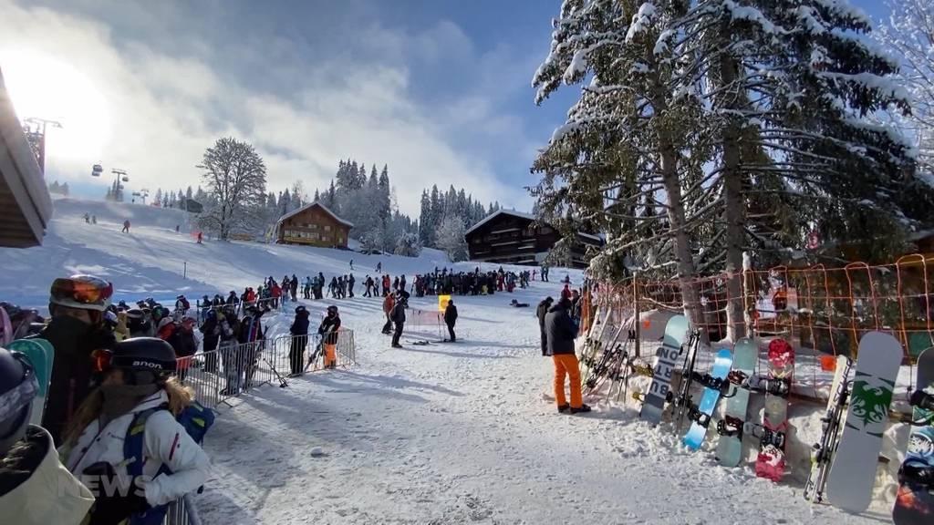 Perfekte Bedingungen: Ski-Fans stürmen die Skigebiete im Berner Oberland