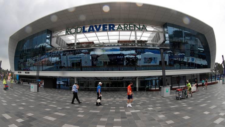 Der Hautplatz des Melbourne Park, die Rod Laver Arena.