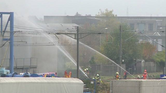 Grossbrand in Industriebetrieb