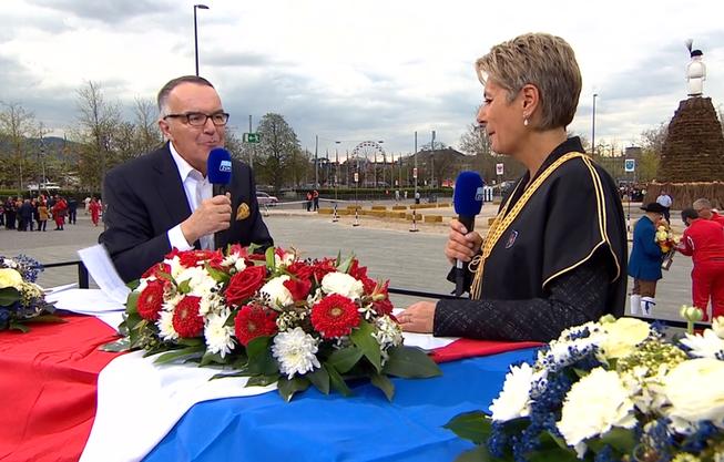 Bundesrätin Karin Keller-Sutter am Sechseläuten 2019