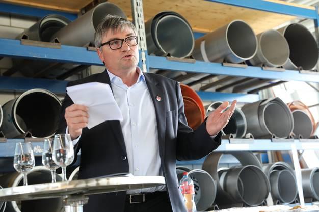 Der Biberister Gemeindepräsident Stefan Hug-Portmann