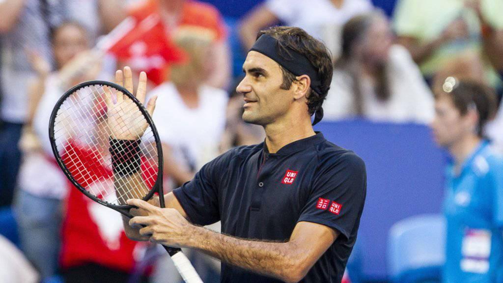 Roger Federer liess sich auch von Alexander Zverev nicht stoppen