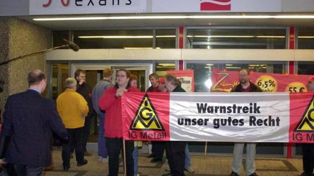 Ein Streik bei Nexans in Deutschland (Archiv)
