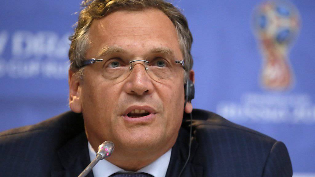 Generalsekretär Jérôme Valcke ist per sofort suspendiert
