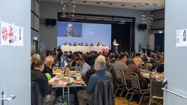 Bundesrat Alain Berset spricht zu den SP-Delegierten in Liestal