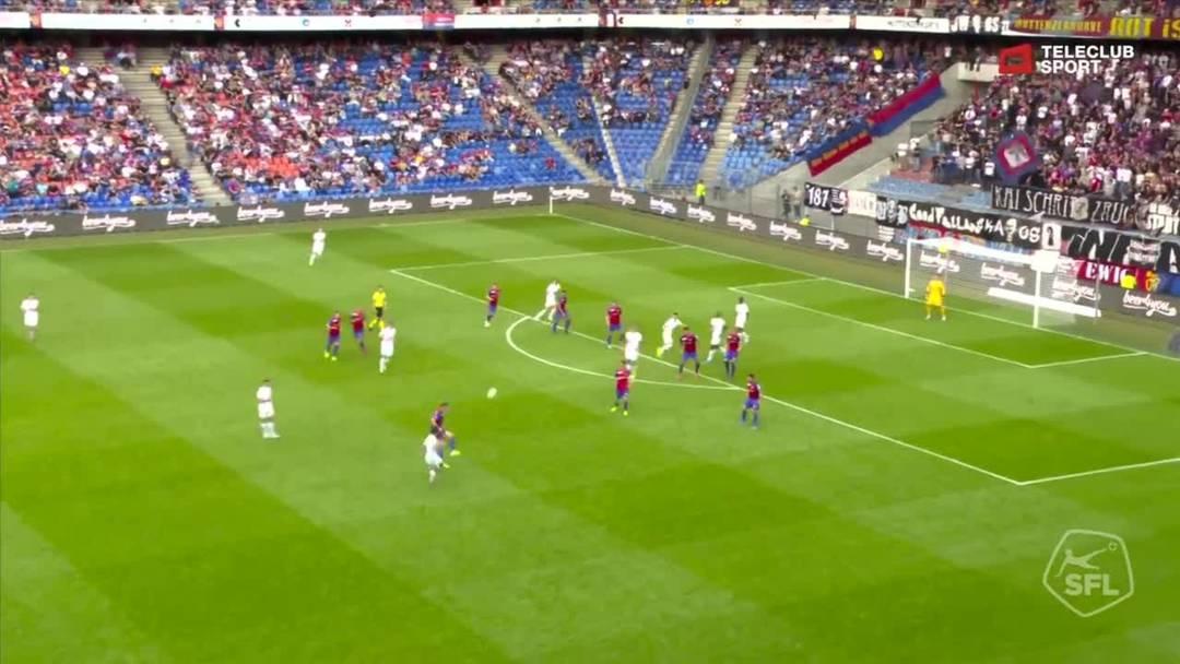 Super League, Saison 2019/20, 9.Runde: FC Basel - FC Luzern, 60. Minute