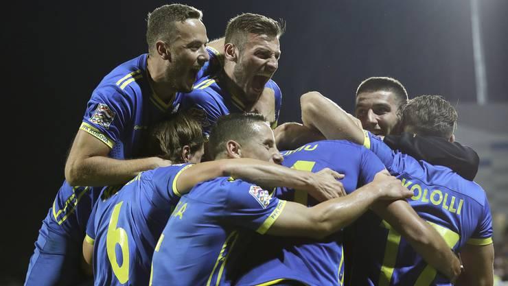 Erster Pflichtspielsieg für die kosovarische Nationalmannschaft.