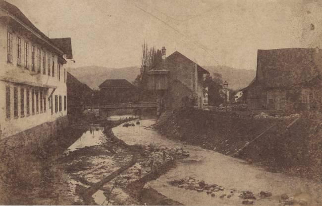 Die Reppisch im Oberdorf um das Jahr 1900