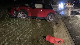 Die Fahrerin kollidierte mit einem Hydranten.