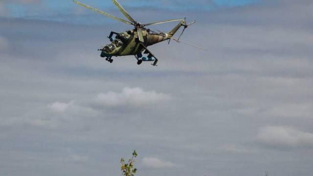Ein Helikopter des Typs Mi-24 der ukrainischen Armee