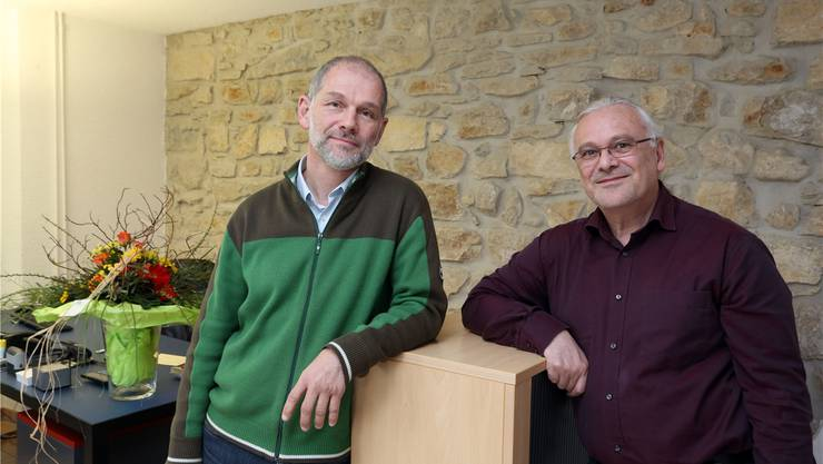 Reno Sami (links) ist der Nachfolger von Eric Misteli als Geschäftsleiter der Suchthilfe Ost.