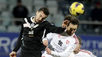 Orlando Urbano (li., im Spiel gegen Vaduz) schoss Lugano in Führung