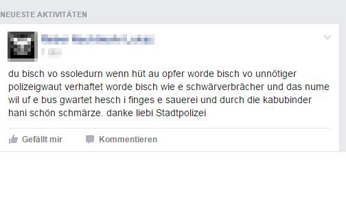 Post in der Gruppe «du bisch vo Solothurn wenn»
