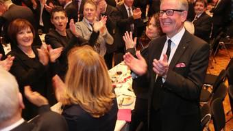 Feier für Kantonsratspräsident Ernst Zingg im Oltner Stadttheater