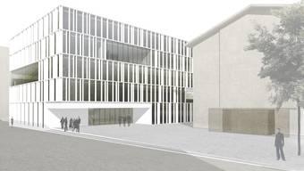 So wird das neue Berufsbildungszentrum BBZ einmal aussehen.