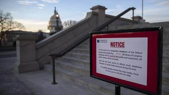 Vom US-Haushaltsstreit betroffen: Die Kongress-Bibliothek in Washington bleibt deshalb vorerst geschlossen.
