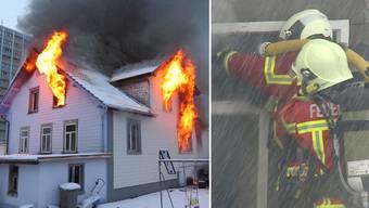 Grossbrand bei Einfamilienhaus in Reinach