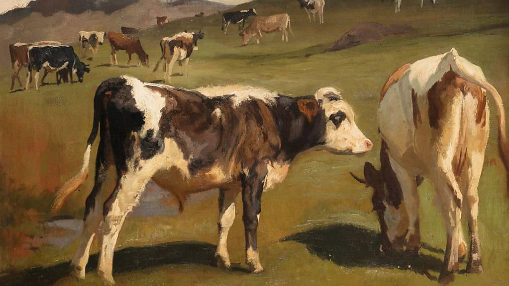 Das Bild einer Kuhherde von Maler Rudolf Koller befindet sich neu als Dauerleihgabe im Kunstmuseum Luzern.
