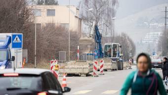 Die Umleitung während der Bauzeit führt durch die Quartiere