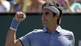 Federer siegt souverän und trifft im Final von Indian Wells auf Isner oder Djokovic