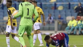 Diesmal scheitert Ricky van Wolfswinkel an Arnhem-Goalie Eduardo - in der 93. Minute erzielte er das Siegtor