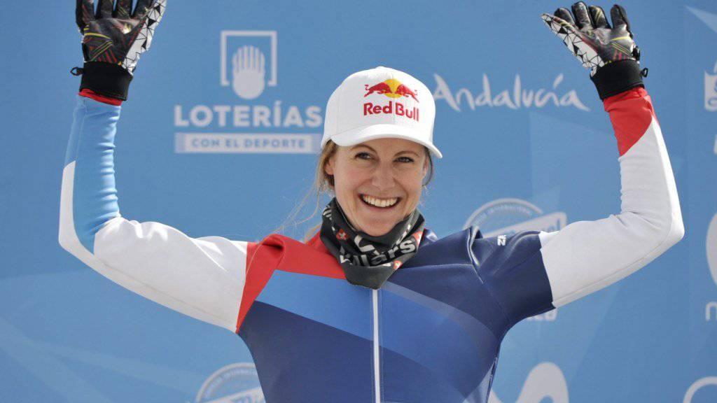 Freute sich an der Skicross-WM über Silber, als hätte sie die Goldmedaille gewonnen: die Waadtländerin Fanny Smith