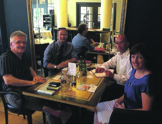 Oskar Kämpfer (links) traf ebenso UETD-Mitglieder...