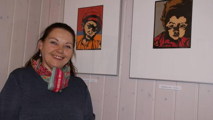 Estrellita Fauqueux: «Portraits lassen sich auch schneiden.» (Bild Thomas Stöckli)
