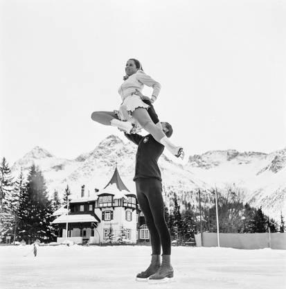 Mit Bruder Paul 1939 in Arosa