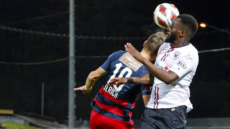 Der FC Aarau kassiert gegen den SC Kriens zwei Tore nach Standards.