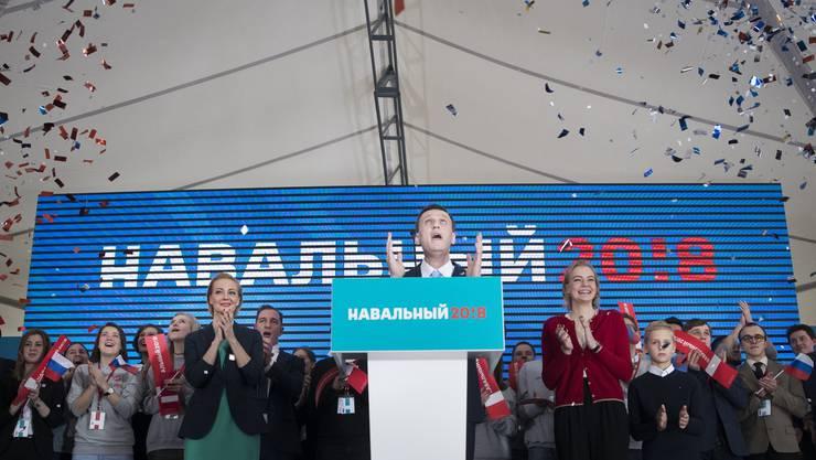 """Alexej Nawalny: """"Wir sind bereit zu gewinnen und wir werden diese Wahl gewinnen."""""""