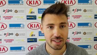Gianluca Frontino nach seinem ersten Training beim FC Aarau