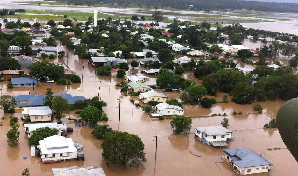Der Brisbane River wird zum reissenden Fluss
