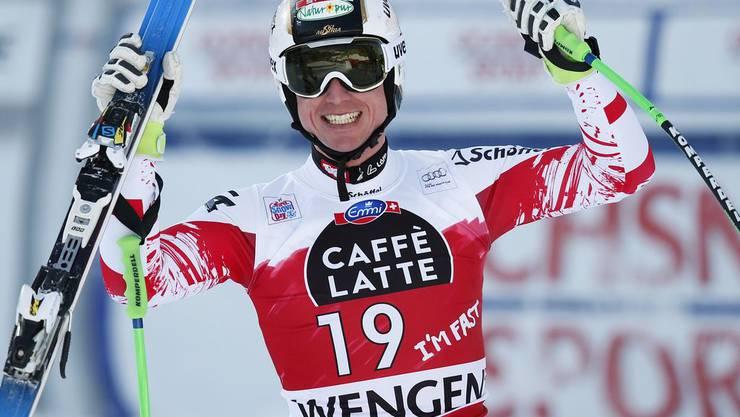 Hannes Reichelt verdirbt den Schweizern einen Heim-Dreifachsieg.